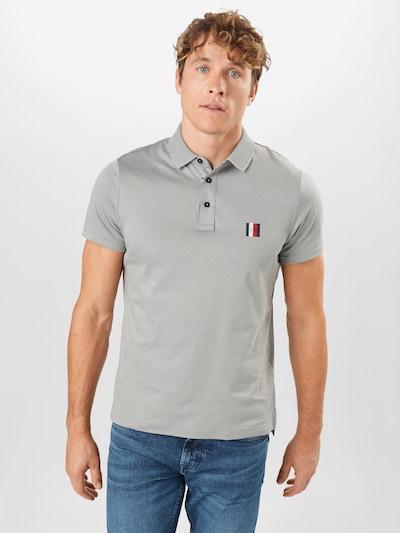 Maglietta TOMMY HILFIGER di colore blu notte / grigio / rosso / bianco: Vista frontale