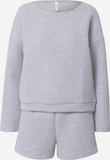 VERO MODA Pyjama 'VALENTINA' in hellgrau, Produktansicht