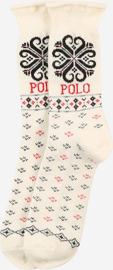 POLO RALPH LAUREN Chaussettes 'Holiday Roll' en beige / rouge, Vue avec produit