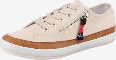 Inselhauptstadt Sneaker in beige / dunkelblau / braun, Produktansicht