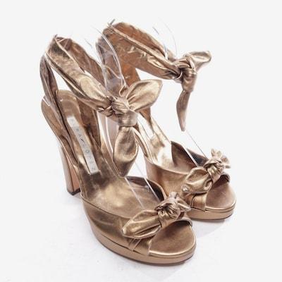 PURA LOPEZ Sandaletten in 37,5 in gold, Produktansicht