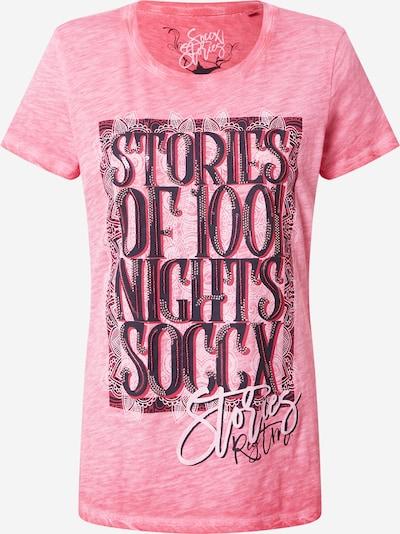 Soccx T-Shirt in nachtblau / pinkmeliert / weiß, Produktansicht