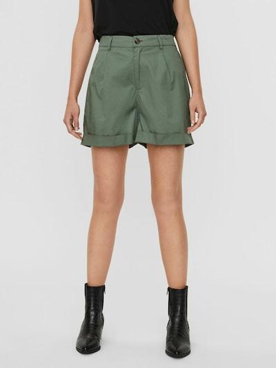Pantaloni con pieghe VERO MODA di colore verde, Visualizzazione modelli