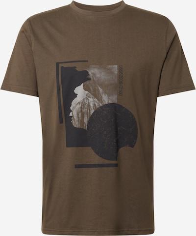 Tricou 'Mount' JUST JUNKIES pe oliv / negru / alb, Vizualizare produs