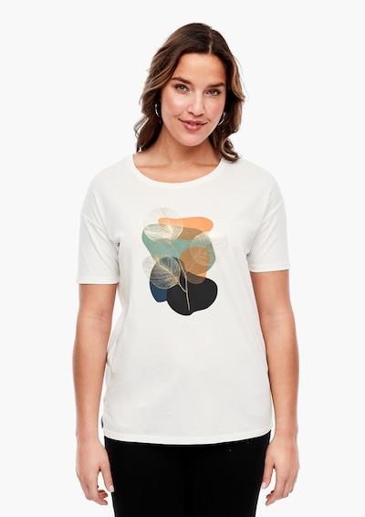 TRIANGLE Shirt in mischfarben / weiß: Frontalansicht