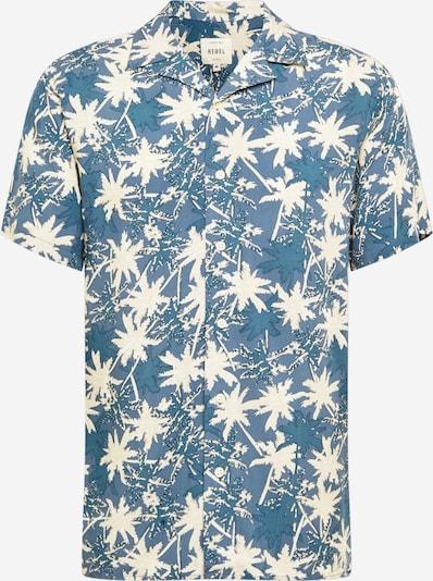 Redefined Rebel Hemd 'Joe' in taubenblau / himmelblau / weiß, Produktansicht