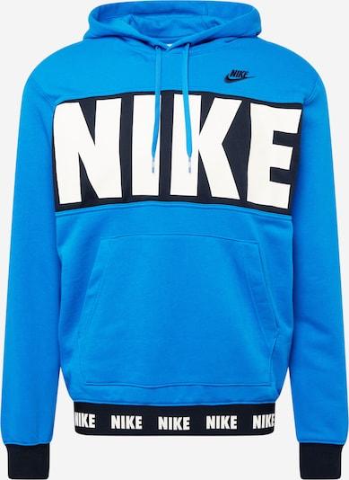 Nike Sportswear Sweat-shirt en bleu ciel / noir / blanc, Vue avec produit