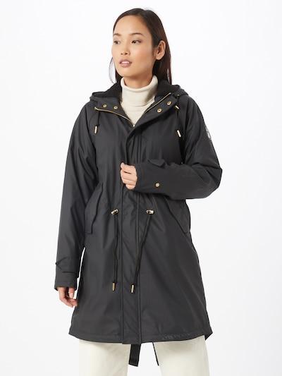 Derbe Mantel 'Mono' in schwarz, Modelansicht