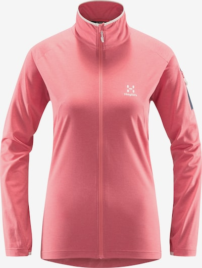 Haglöfs Functionele fleece jas 'Mirre Mid' in de kleur Lichtroze / Zwart / Wit, Productweergave