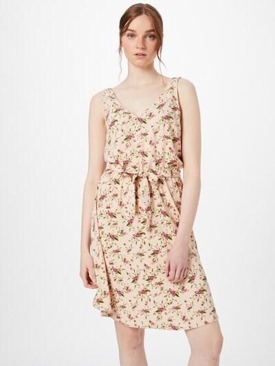 VILA Kleid 'KRISTINA LAIA' in oliv / pastellgrün / pastellorange / hellpink / dunkelpink, Modelansicht