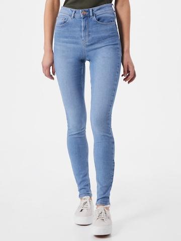 Jeans 'High Five' di PIECES in blu