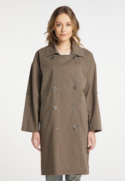 DreiMaster Vintage Mantel in taupe, Modelansicht