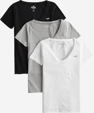 HOLLISTER Shirt in graumeliert / schwarz / weiß, Produktansicht