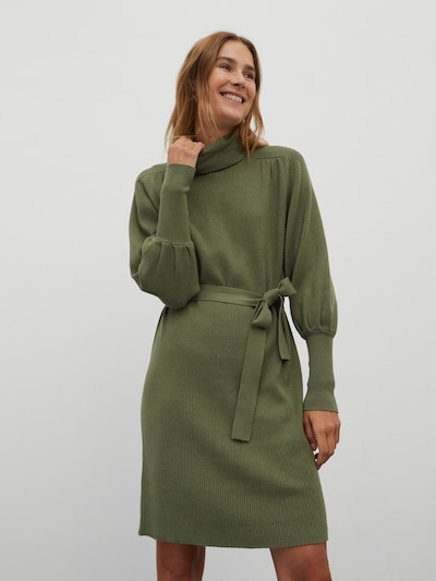 EDITED Kleid 'Malene' in de kleur Olijfgroen, Modelweergave