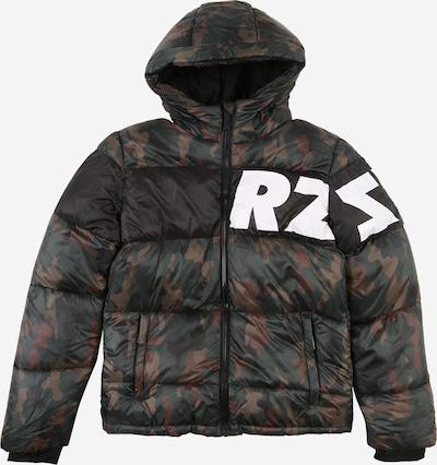 Raizzed Jacke 'Tacoma' in braun / dunkelgrün / schwarz / weiß, Produktansicht