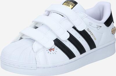 ADIDAS ORIGINALS Baskets 'Superstar' en mélange de couleurs / noir / blanc, Vue avec produit