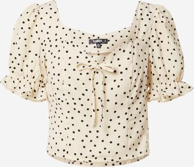 Missguided Majica u boja pijeska / crna / bijela, Pregled proizvoda