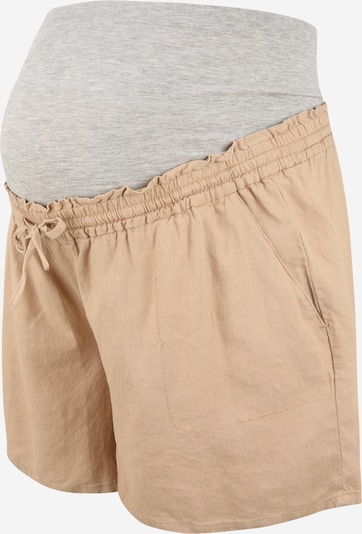 Mamalicious Curve Shorts in hellbeige / grau, Produktansicht