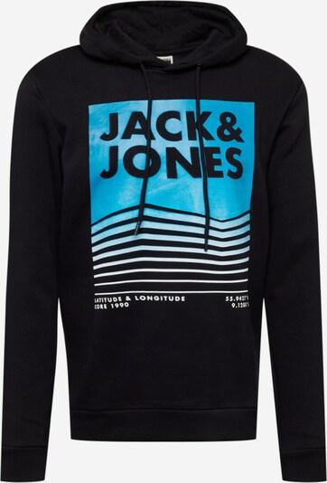 Bluză de molton 'BOOSTER' JACK & JONES pe albastru neon / negru / alb, Vizualizare produs