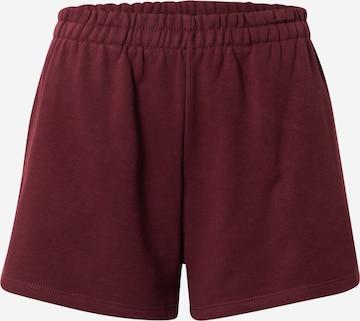 Pantalon WEEKDAY en rouge