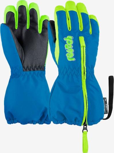 REUSCH Fingerhandschuhe 'Tom' in blau / gelb, Produktansicht