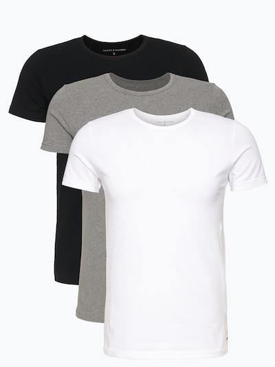 TOMMY HILFIGER T-Shirt in grau / schwarz / weiß, Produktansicht