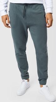 BOSS Casual teplákové nohavice 'Skyman' - zelenej / čiernej farbe