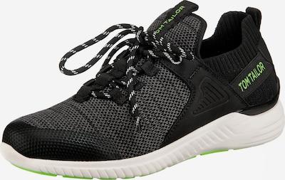 TOM TAILOR Sneaker in grau / neongrün / schwarz, Produktansicht