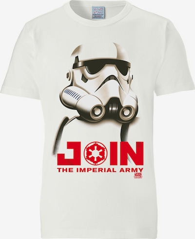 LOGOSHIRT T-Shirt mit 'Stormtrooper - Join the Imperial Army'-Print in weiß, Produktansicht