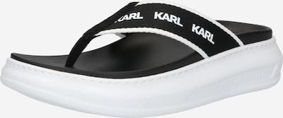 Karl Lagerfeld Séparateur d'orteils 'KAPRI' en noir / blanc, Vue avec produit