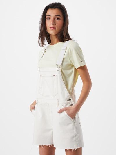 Tommy Jeans Nohavice na traky - prírodná biela, Model/-ka