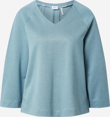 s.Oliver BLACK LABEL Sweatshirt in Blau