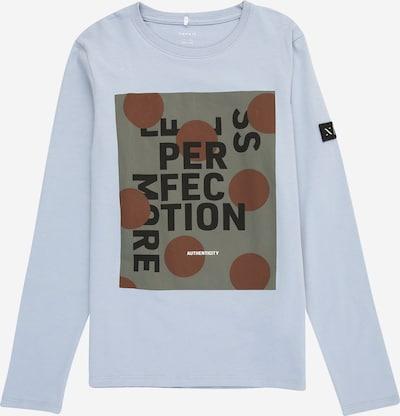 NAME IT Shirt 'DANT' in de kleur Smoky blue / Bruin / Grijs / Zwart, Productweergave