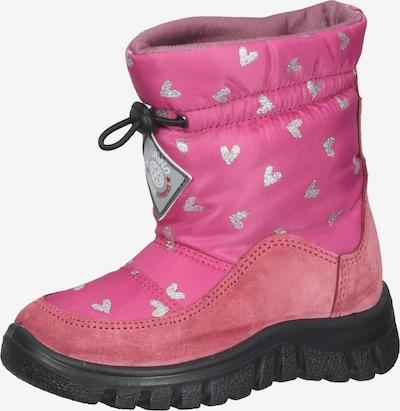 NATURINO Stiefel in rosa / schwarz / silber, Produktansicht