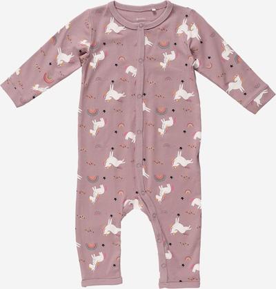 Guppy Schlafanzug 'LALA' en goldgelb / lila / pink / himbeer / weiß, Vue avec produit
