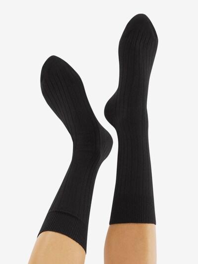CHEERIO* Sokken 'TOUGH GUY' in de kleur Zwart: Achteraanzicht