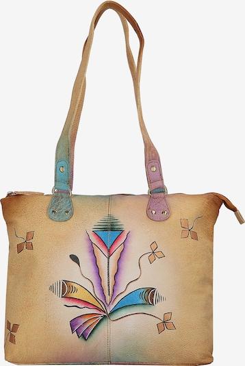 GREENLAND Shopper 'Art & Craft' in braun / mischfarben, Produktansicht