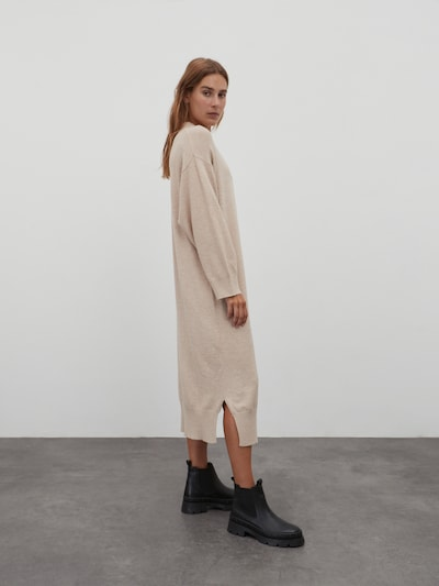 EDITED Knitted dress 'Dorothea' in Beige, View model