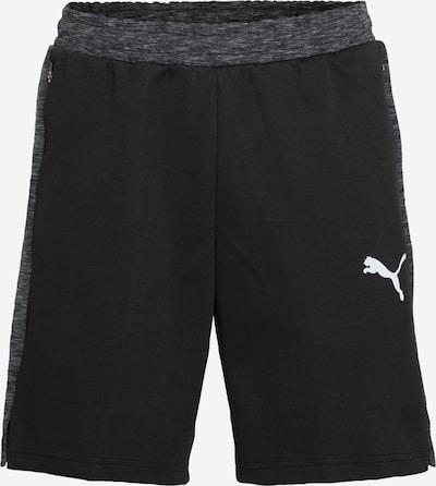 PUMA Pantalón deportivo 'EVOSTRIPE' en gris moteado / negro / blanco, Vista del producto
