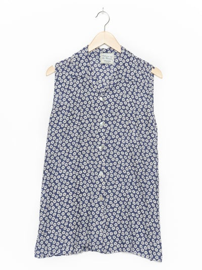 Colours of the World Blumenbluse in XL in blau, Produktansicht