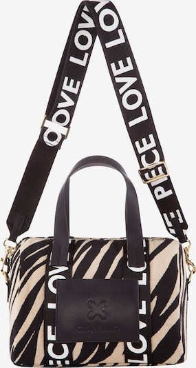 CODELLO Crossbody Bag in Beige / Gold / Black / White, Item view