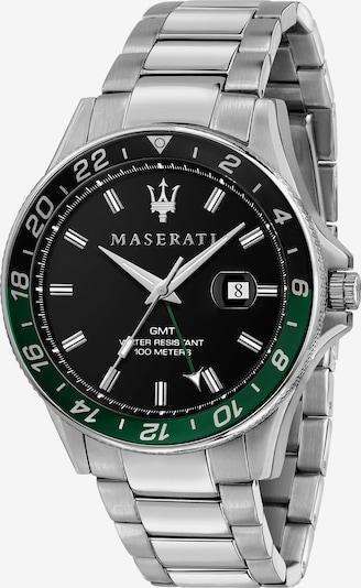 Maserati Uhr in dunkelgrün / schwarz / silber, Produktansicht