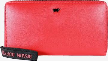 Braun Büffel Lederbörse 'CAPRI L' in Rot