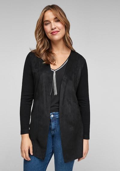 TRIANGLE Strickjacke in schwarz, Modelansicht