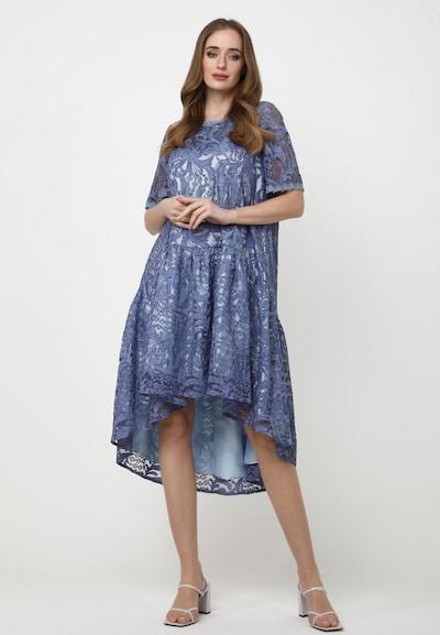 Madam-T Kleid 'Eva' in blau, Modelansicht