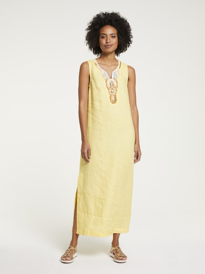 heine Kleid in hellblau / braun / hellgelb / weiß, Modelansicht