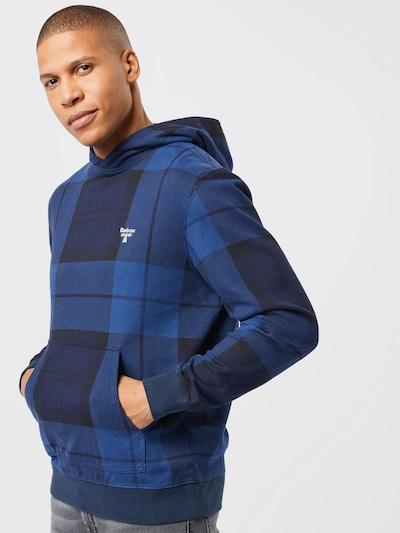 Barbour Beacon Sweat-shirt en bleu marine / bleu foncé / blanc: Vue de face