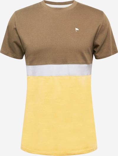 Tricou 'CHESTER' Wemoto pe galben auriu / gri / oliv / alb, Vizualizare produs