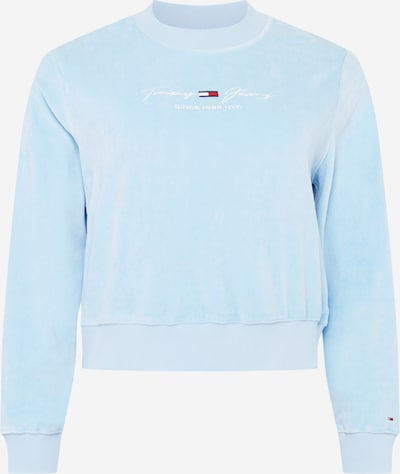 Tommy Jeans Curve Sudadera en marino / azul pastel / rojo / blanco, Vista del producto