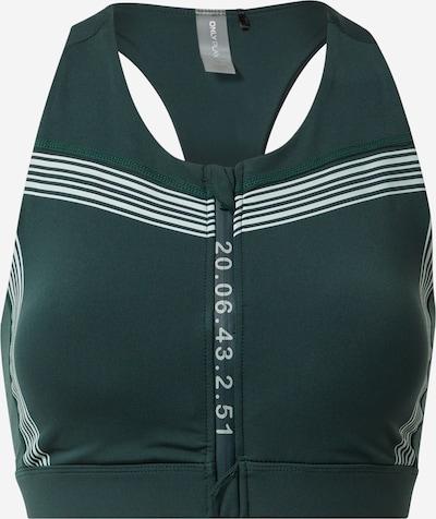 ONLY PLAY Sports Bra 'SHY' in Dark green / White, Item view